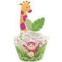 Hartie Briose Wilton, Decor Jungla, Set 12 Buc.