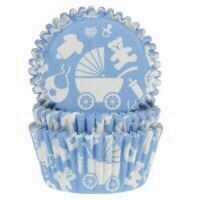 Hartie Briose House Of Marie, Baby Blue, Set 50 Buc